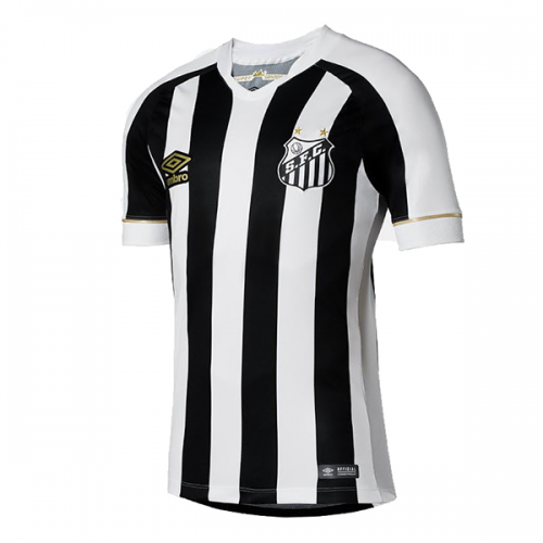 29feb8741 18 19  santos Away Black White Soccer Jersey Shirt