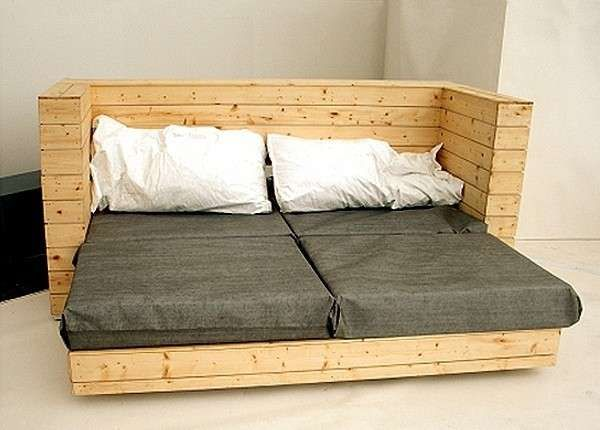 Como hacer un sof cama con palets te vamos a sorprender Pinterest