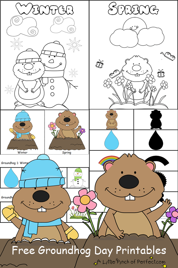 Groundhog Day Free Printables Coloring Pages Kid Blogger