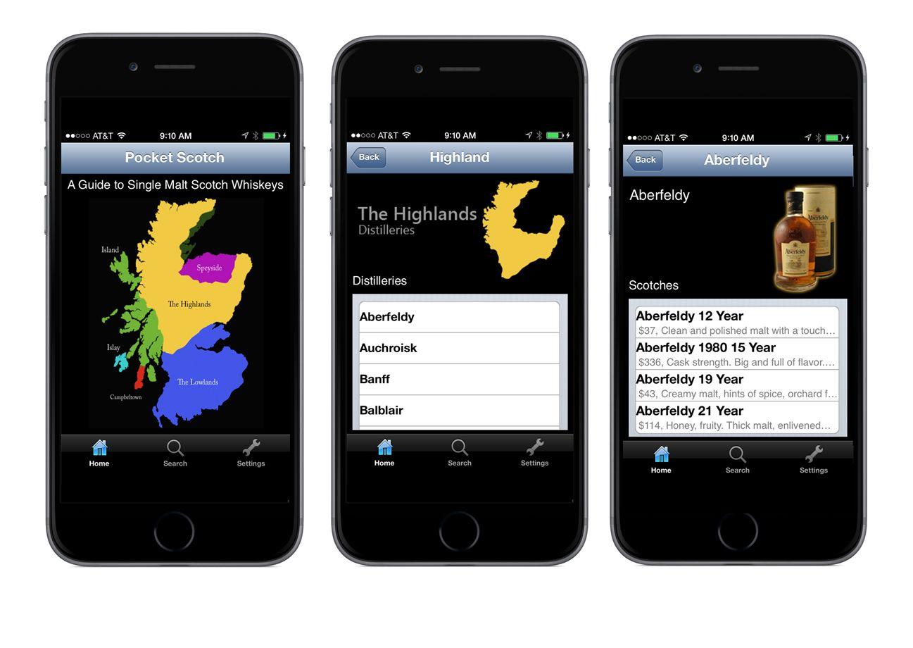 An iPhone app for single malt Scotch drinkers.