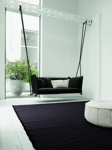Almost as wonderful as a porch swing - an indoor couch swing!