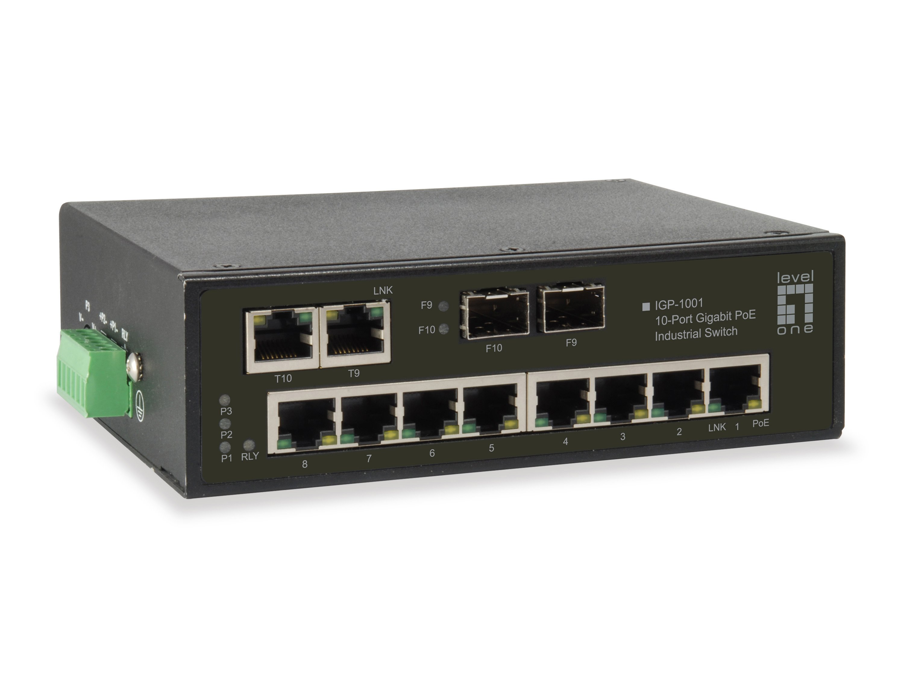Igp 1001 10 Port Gigabit Poe Industrial Switch 8 Poe Outputs 2 X Gigabit Sfp Rj45 Combo Industrial