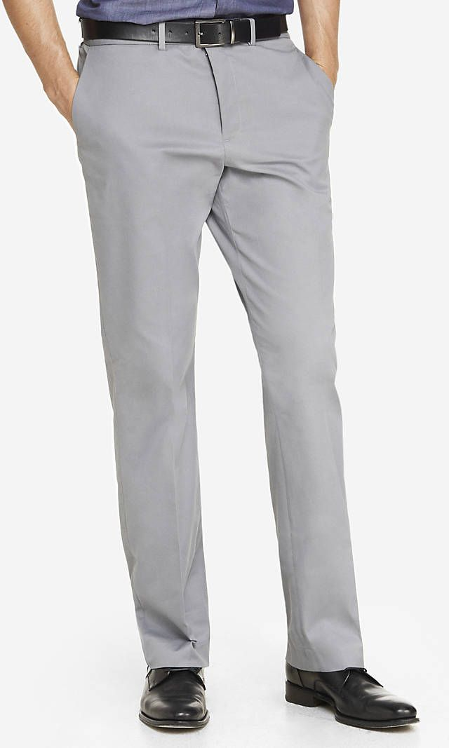 69baa7fe Relaxed Agent Stretch Cotton Gray Dress Pant   Express   Check this ...