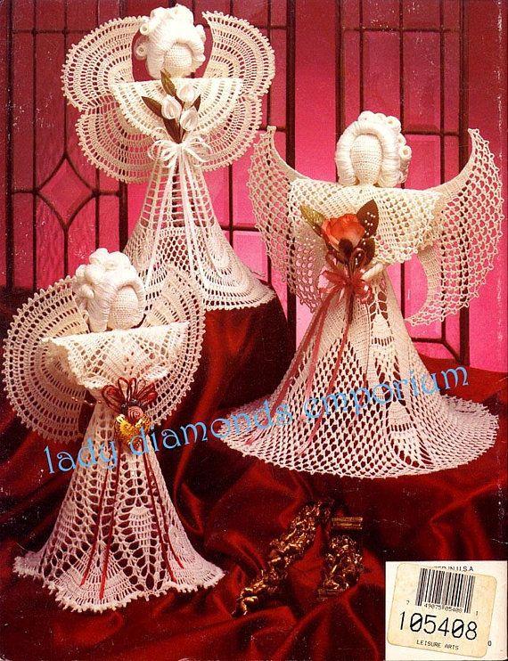 Crochet Angels Sweet Elegance Angels Vintage Annies Attic Crochet