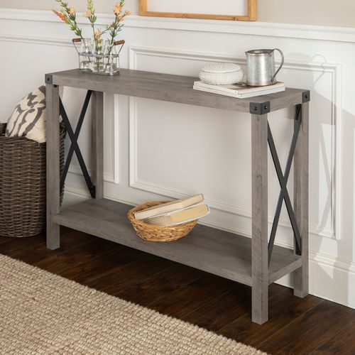 modern farmhouse gray wash console table with images on modern farmhouse patio furniture coffee tables id=29674