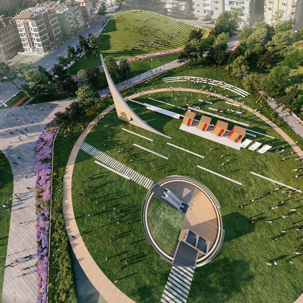 Gallery Of Onz Repurpose Abandoned Stadium Into Urban Park With Cultural Hub 5 Urban Park Park Landscape Landscape Architecture Design