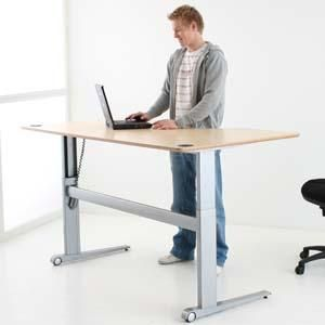 Bon Electrically Height Adjustable Desks Can Help Bad Back Issues. Height  Adjustable Desks Change Height To Allow You To Work Sitting Or Standing.