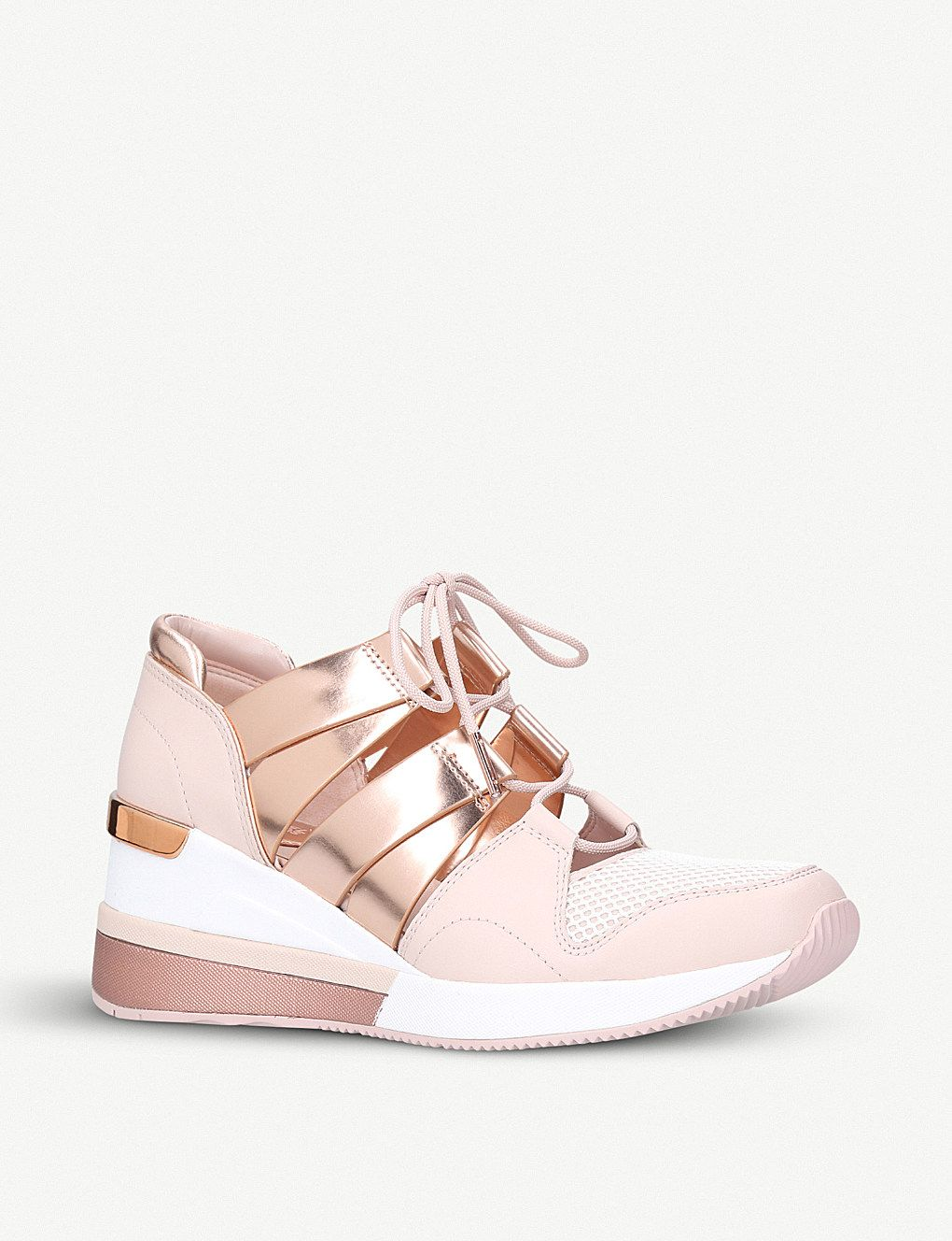 MICHAEL MICHAEL KORS Beckett leather and mesh trainers