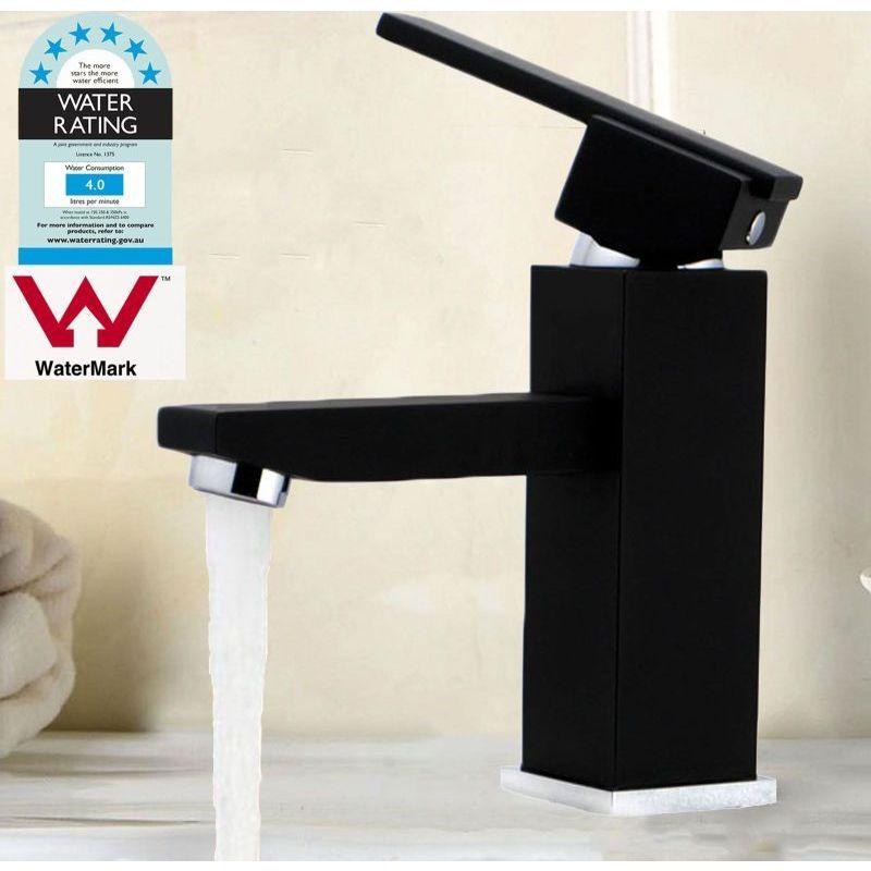 Bathroom Basin Square Mixer Tap Matte Black 160mm | Pinterest ...