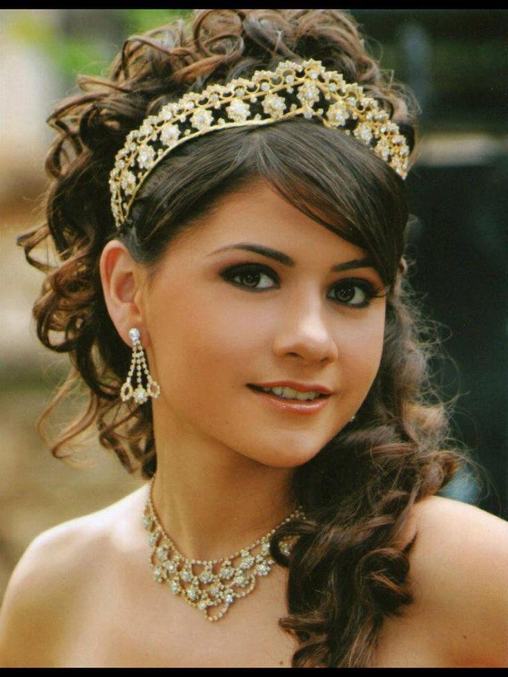 Peinados Y Maquillaje Para Quinceaneras Tiara Angy 15 Pinterest