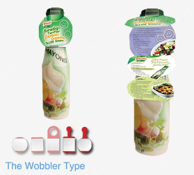The wobbler type Booklet Labels