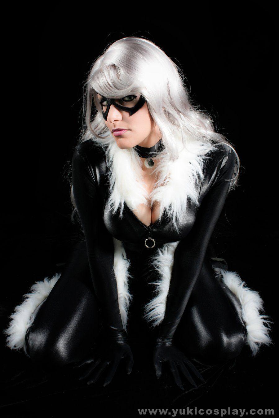 Black cat cosplay hot