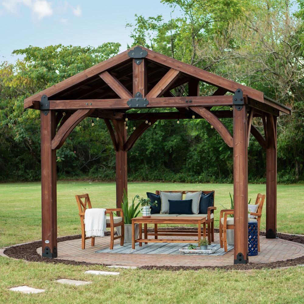 Astonishing Sonora In 2019 Farm House 12X12 Gazebo Backyard Interior Design Ideas Philsoteloinfo