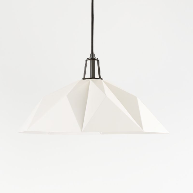 Maddox White Faceted Pendant Large With Black Socket Reviews Crate And Barrel Globe Light Bulbs Pendant Light Crate And Barrel
