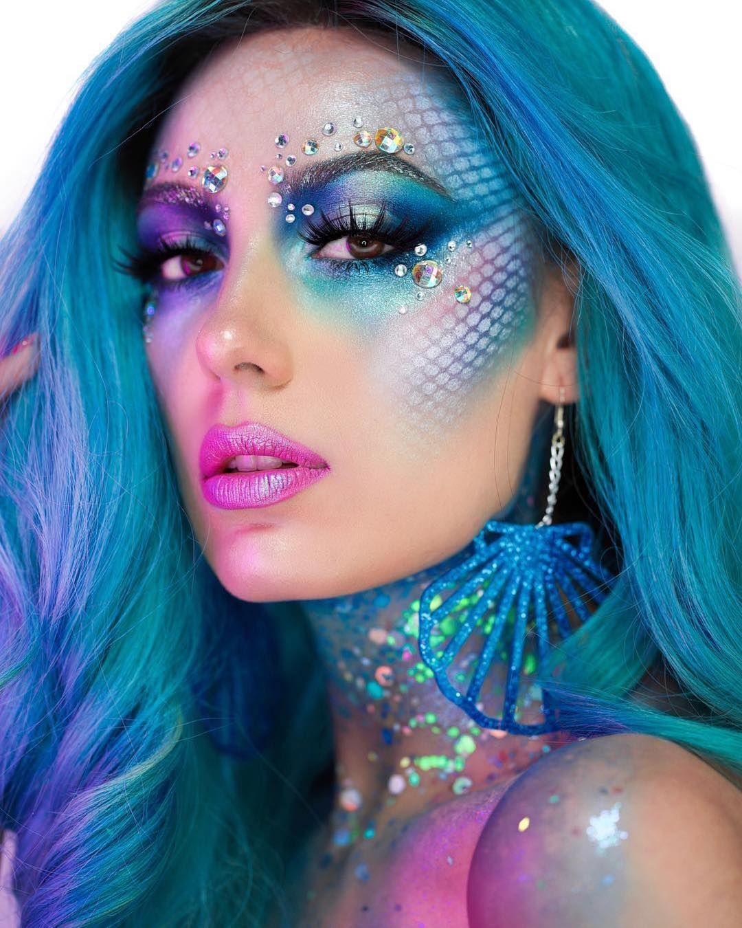 Festival Wear On Instagram How Pretty Is This Mermaid Makeup Did You Know You Can Recr Mermaid Makeup Tutorial Mermaid Makeup Halloween Mermaid Makeup