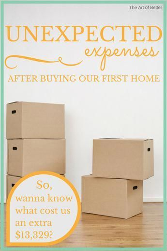Unexpected Expenses After Buying Our First Home - The Art of Better - This is a MUST read for anyone getting ready to purchase their first house! #HomeBuyingTips