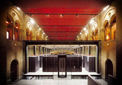 server farm in Italian Palazzo | new design in an old space