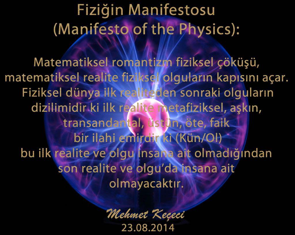 Fiziğin Manifestosu
