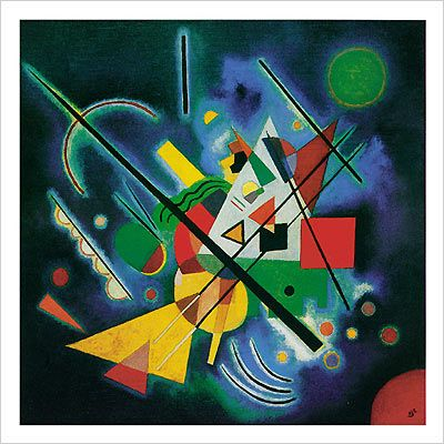 "Kandinsky - The deeper the blue becomes, the more strongly it calls man towards the infinite, awakening in him a desire for the pure and, finally, for the supernatural... The brighter it becomes, the more it loses its sound, until it turns into silent stillness and becomes white. "" Kandinsky"