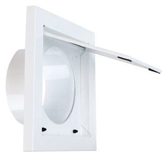 Metal Dryer Wall Vent White DWV4W in 2020 Wall, Viking