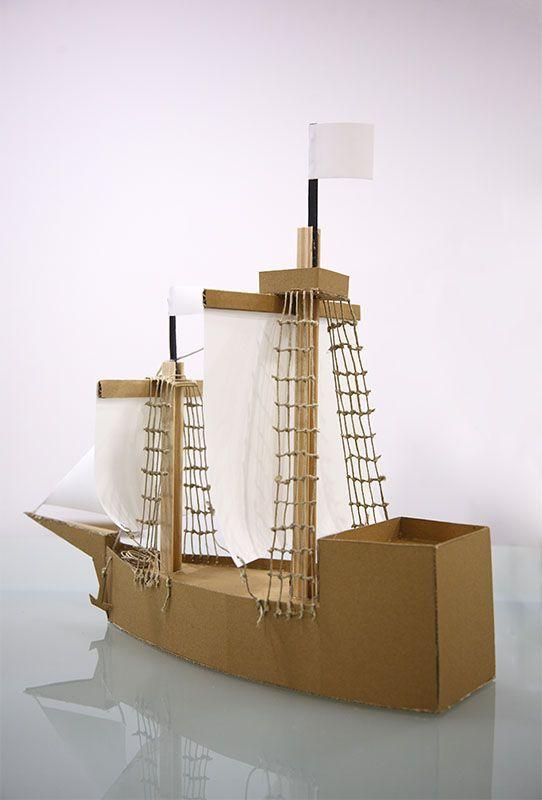 Para entretener construyendo: barco de juguete con estructura de ...