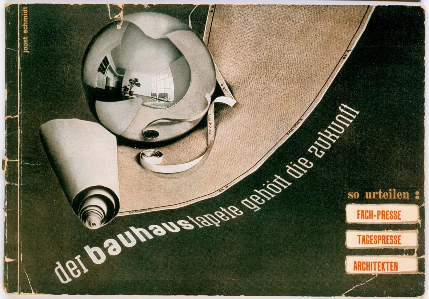 titelblatt des bauhaus tapeten katalogs der bauhaustapete geh rt die zukunft gestaltung. Black Bedroom Furniture Sets. Home Design Ideas