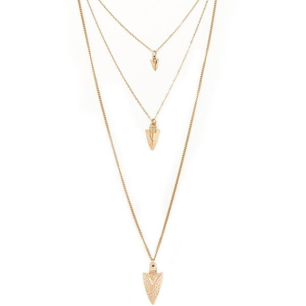 ba6dc44f6 Forever 21 Layered Arrow Necklace found on Polyvore featuring jewelry,  necklaces, accessories, charm necklace, charm jewelry, lobster clasp charms,  layered ...