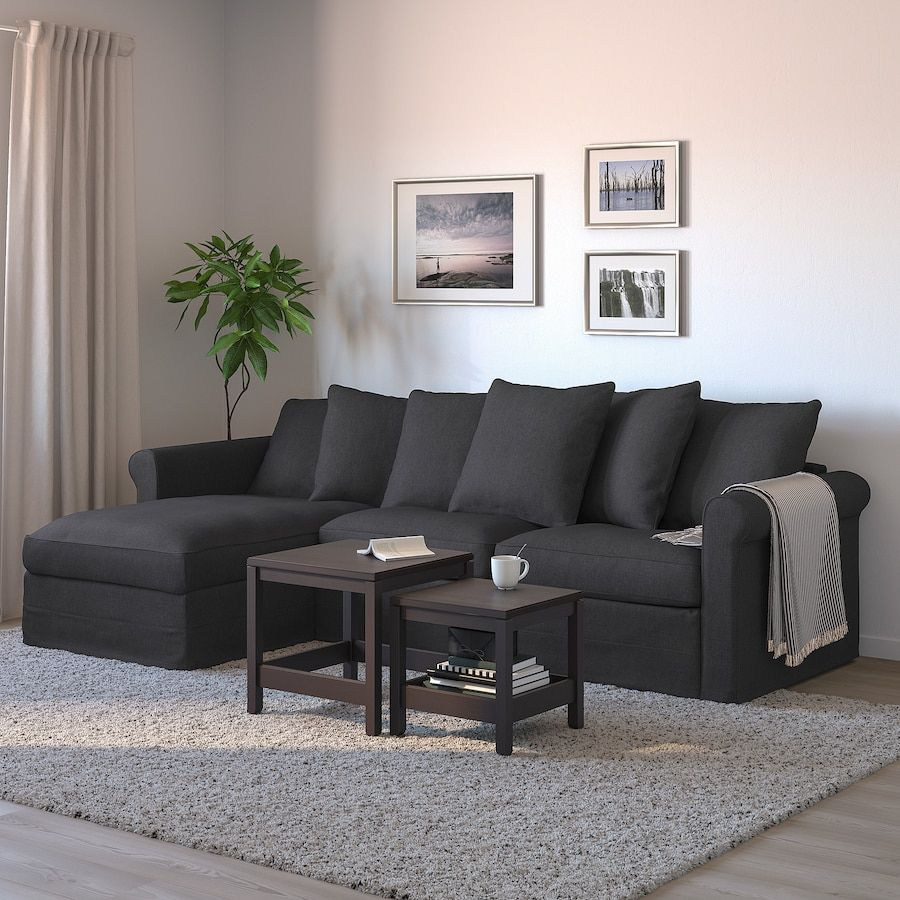 Gronlid Sleeper Sofa With Chaise Sporda Dark Gray Meuble Pas