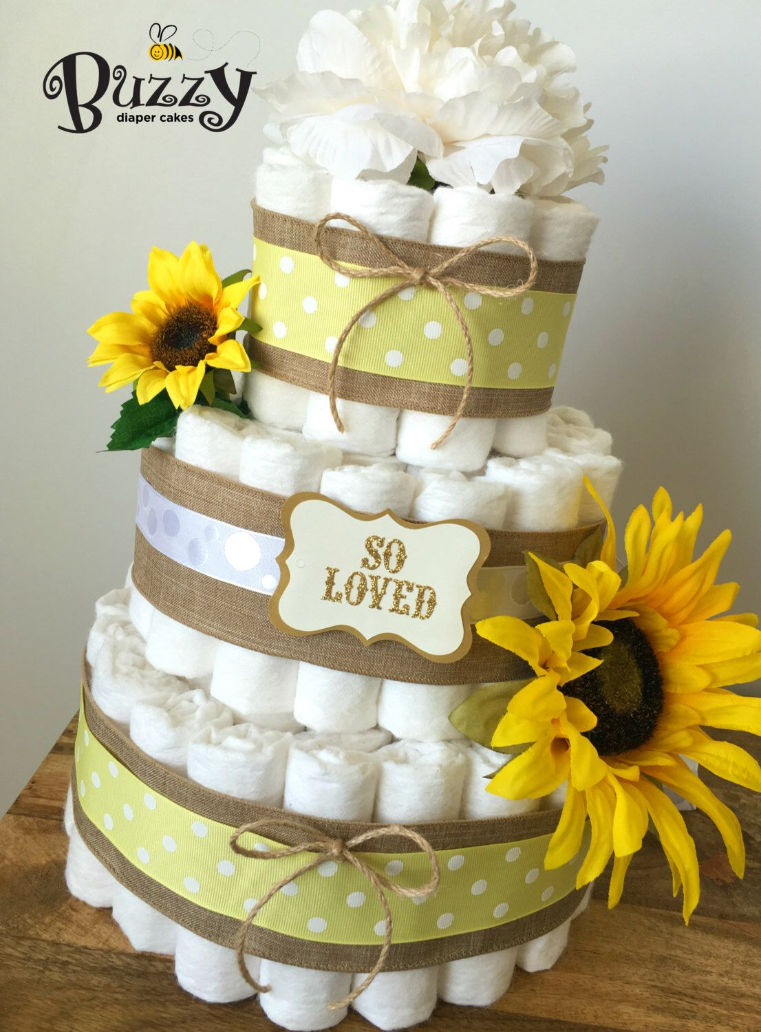 Pin By Kay Stem On Diaper Cake In 2019 Sunflower Baby