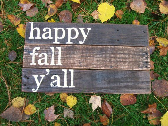 Happy fall ya'll Rustic Wood sign Fall home by truelovecreates