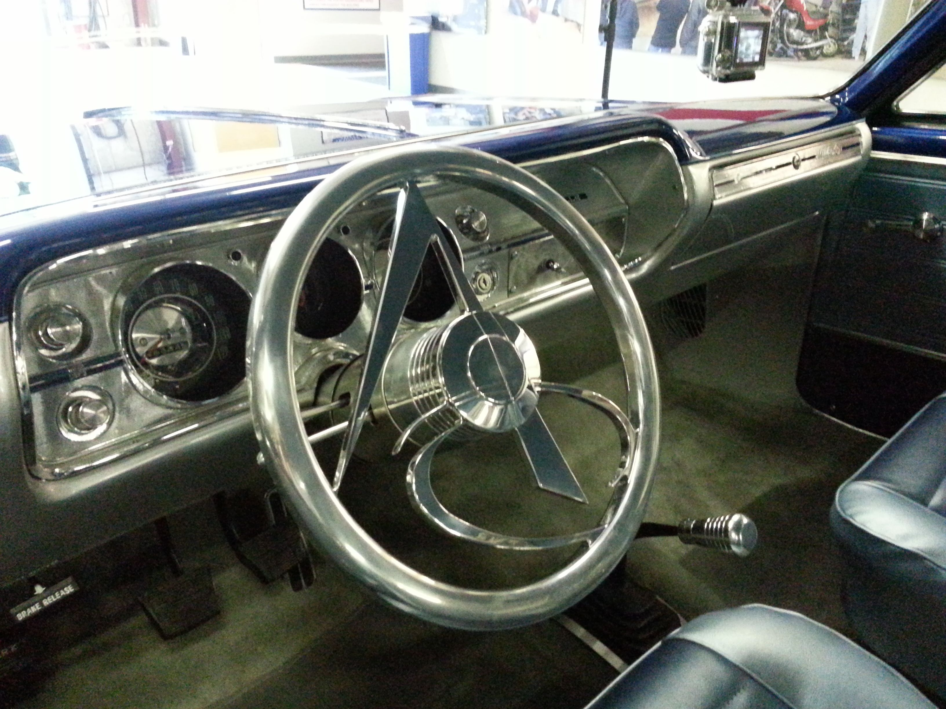 Custom Steering Wheel On 1965 Chevy Malibu Ss Restomod Ami G The Build Americanmodins