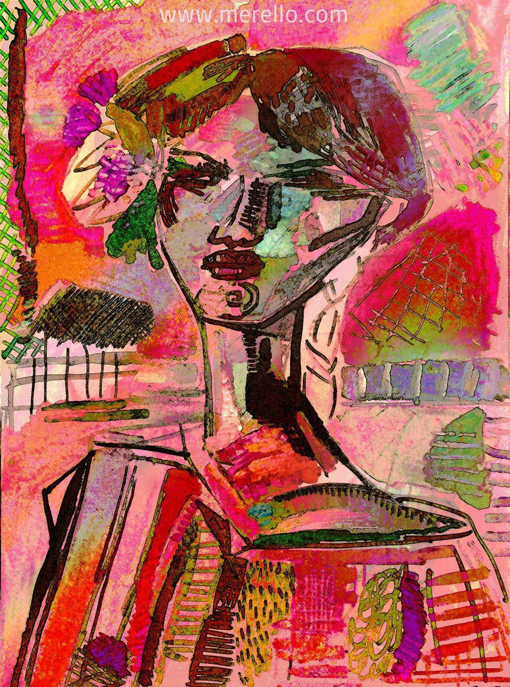 """A NEW UNIVERSE OF COLORS. Jose Manuel Merello. """"Muchacha"""