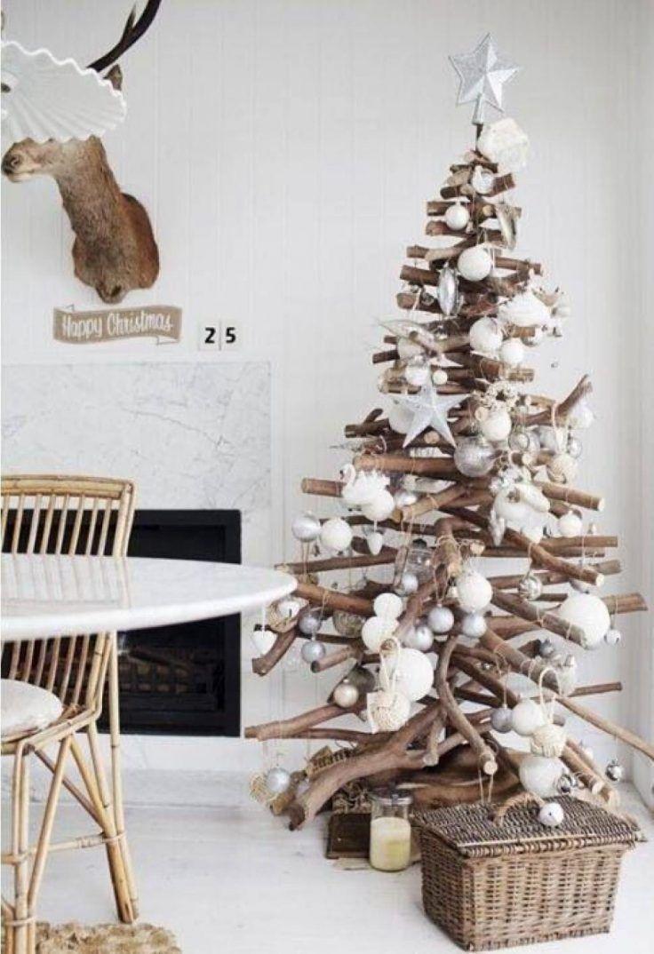Sapin de Noël en bois : 15 idées pour le réaliser soi-même #kerstboomversieringen2019