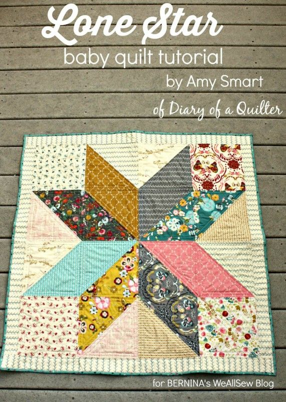 WeAllSew Lone Star Baby Quilt Quilt-Along_ 1 block quilt, could ... : baby block quilt - Adamdwight.com