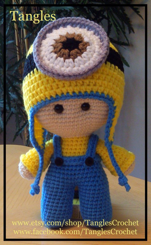 Big Head Baby Doll with Minion hat. … | Pinteres…