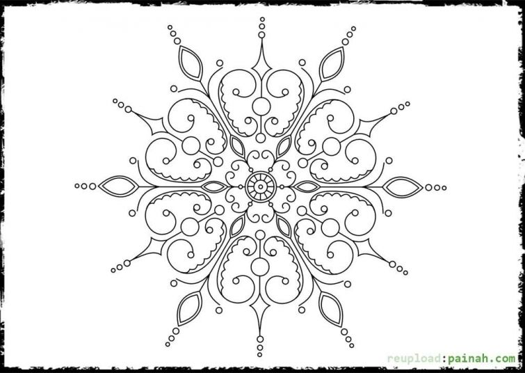 Beautiful doodle art of Snowflake coloring page free printable for - fresh abstract ocean coloring pages