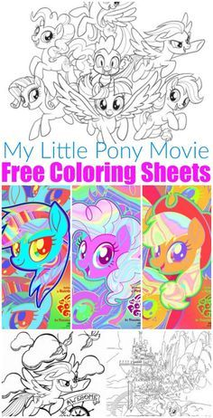 free printable my little pony coloring sheets  my little