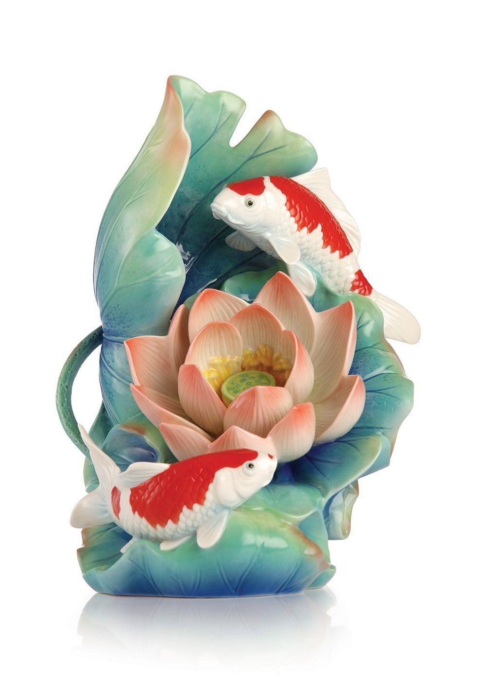 Fz03245 franz porcelain luck harmony japanese koi fish sculptured fz03245 franz porcelain luck harmony japanese koi fish sculptured figurine reviewsmspy