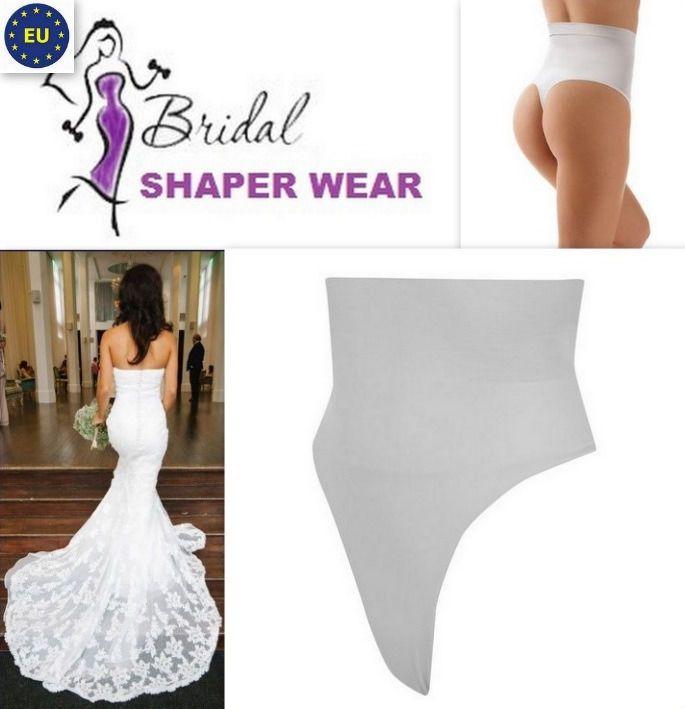 Wedding dress underwear shaper wear for bride thong invisible tummy ...