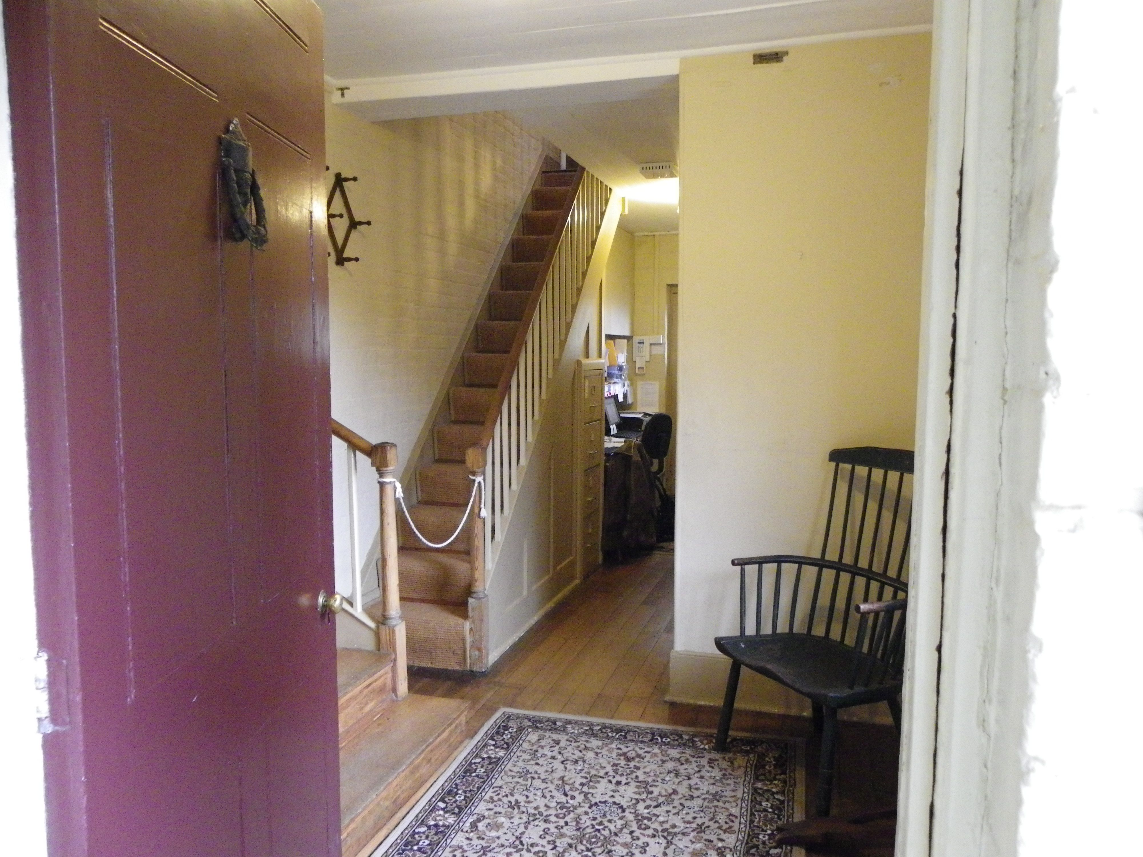 the servants staircase situated at the back entrance to the house