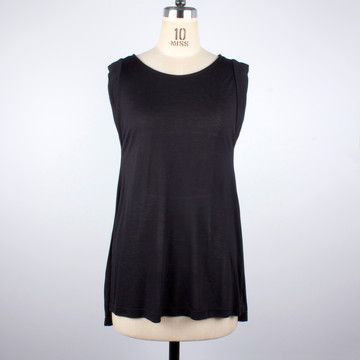 Pleated Back Top Black now featured on Fab.