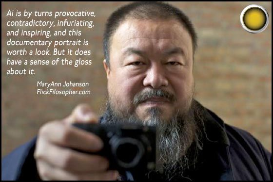 Ai Weiwei: Never Sorry: opens tomorrow in the UK; now playing in the US and Canada.
