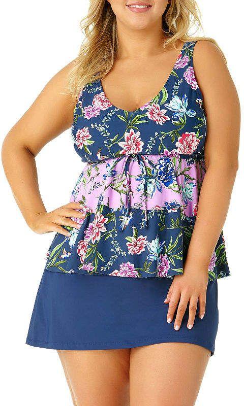 0dbfd6e260 Tankini Swimsuit Top-Plus #Claiborne#Liz#Tankini   Leggings Plus ...