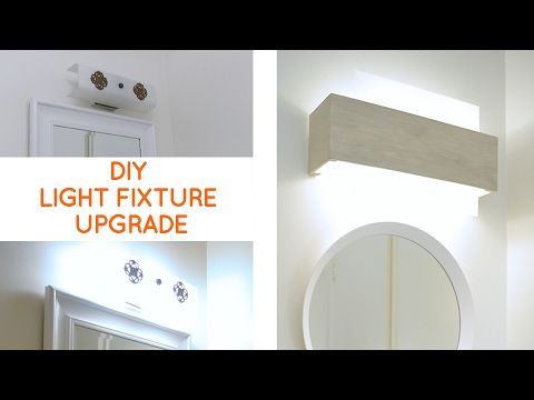 Camouflaging A Dated Off Center Bathroom Lighting Fixture I