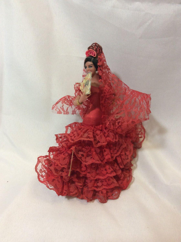 Marin Chiclana doll, flamenco dancer doll from Spain, Vintage Marin Chiclana Senorita, 1970's Spanish doll, doll collectors by NothingsNewHere on Etsy #spanishdolls