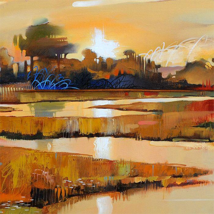 Mill Creek Abstract Landscape Fine Art Print Abstract Art Landscape Landscape Paintings Landscape Art