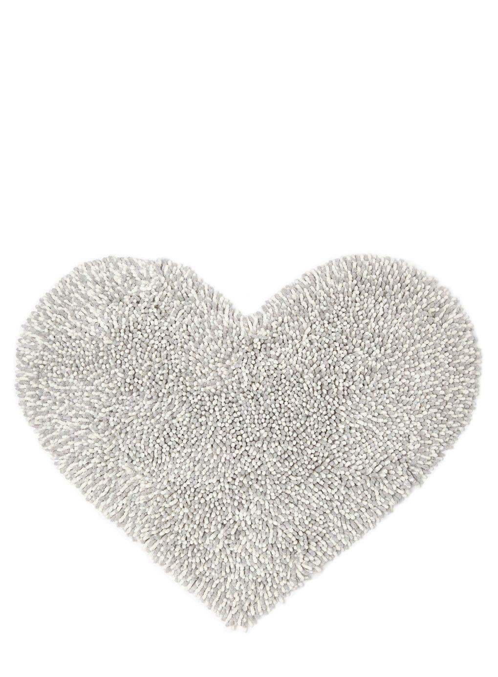 Bhs Bathroom Storage Soft Grey Chenille Heart Mat Bhs Alb1600 Suppiles Pinterest