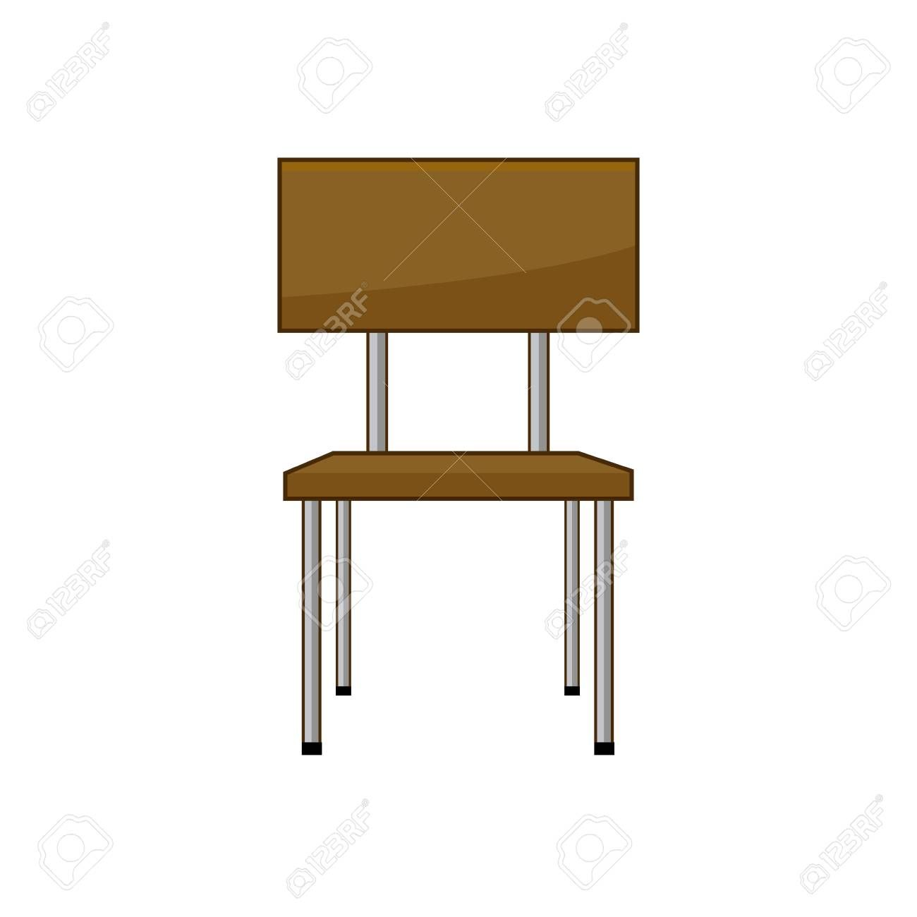 School Student Chair Used In The Classroom Vector Illustration Ad Chair Student School Illustration Vector In 2020 Student Chair Chair Vector Illustration