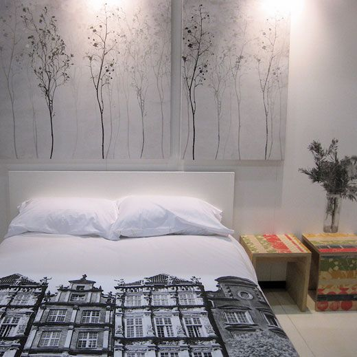 Charming Room · Love The Graphic Bed Sheets From Spacecraft
