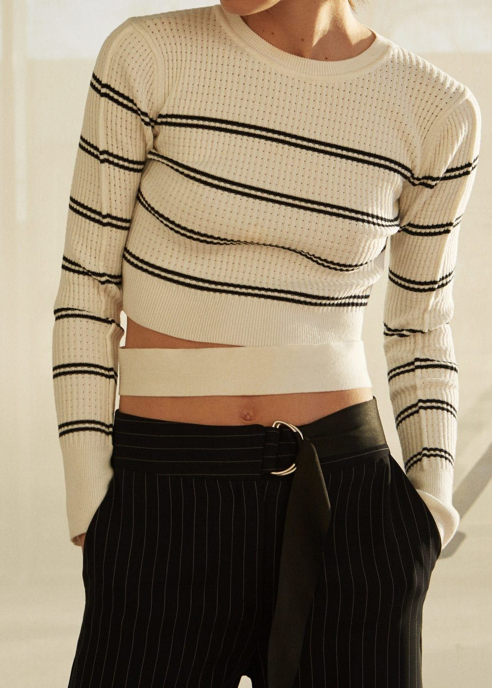 Cropped ribbed sweater | Mango, Sweaters and Jersey
